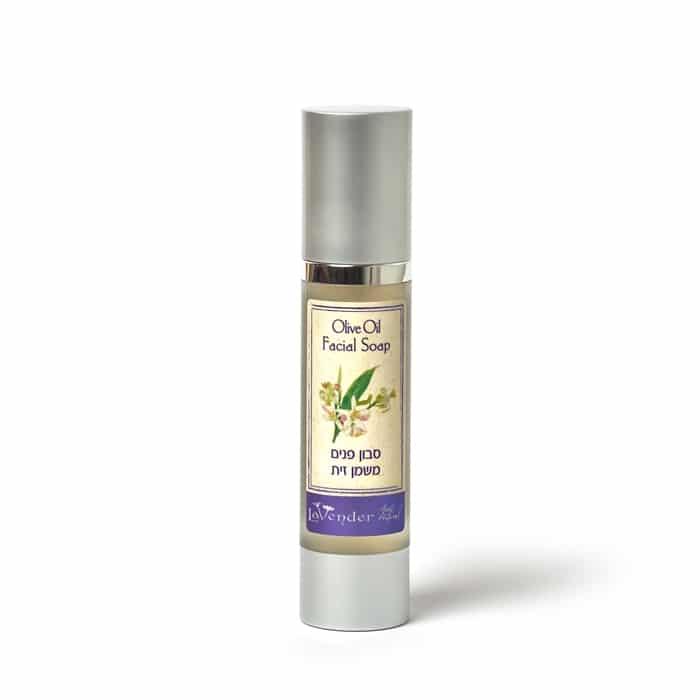 ניקוי פנים טבעי, סבון פנים משמן זית, עור רגיש- לבנדר קוסמטיקה טבעית