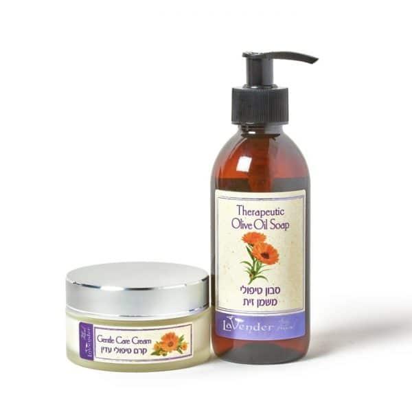 ערכה טיפולית לאסטמה של העור - לבנדר קוסמטיקה טבעית ורוקחות טבעית