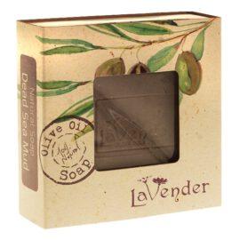 סבון טבעי מוצק עם בוץ מים המלח - לבנדר קוסמטיקה טבעית ורוקחות טבעית