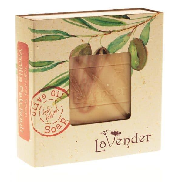 סבון מוצק טבעי פטשולי וניל - לבנדר קוסמטיקה טבעית ורוקחות טבעית