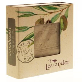 סבון מוצק טבעי טיפולי משמן זית - לבנדר קוסמטיקה טבעית ורוקחות טבעית