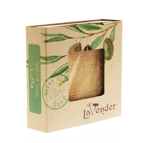 סבון מוצק טבעי משמן זית עם ליפה- לבנדר קוסמטיקה טבעית ורוקחות טבעית