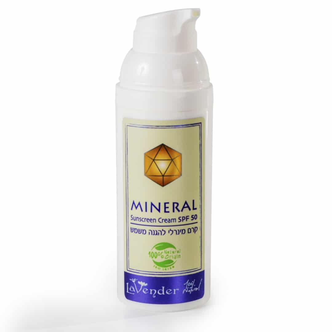 קרם הגנה מינרלי טבעי SPF50 - לבנדר קוסמטיקה טבעית