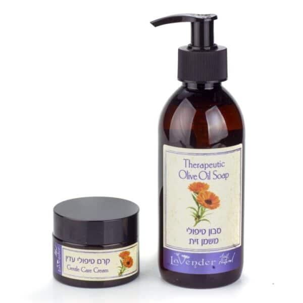 סט טיפולי לעור רגיש ולאסטמה של העור מבית לבנדר קוסמטיקה טבעית