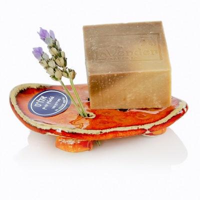 סבון אקולוגי קשיח טבעי עם סבוניה בעבודת יד