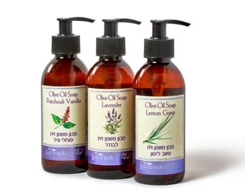 סבון ללא SLS, טבעי נוזלי משמן זית