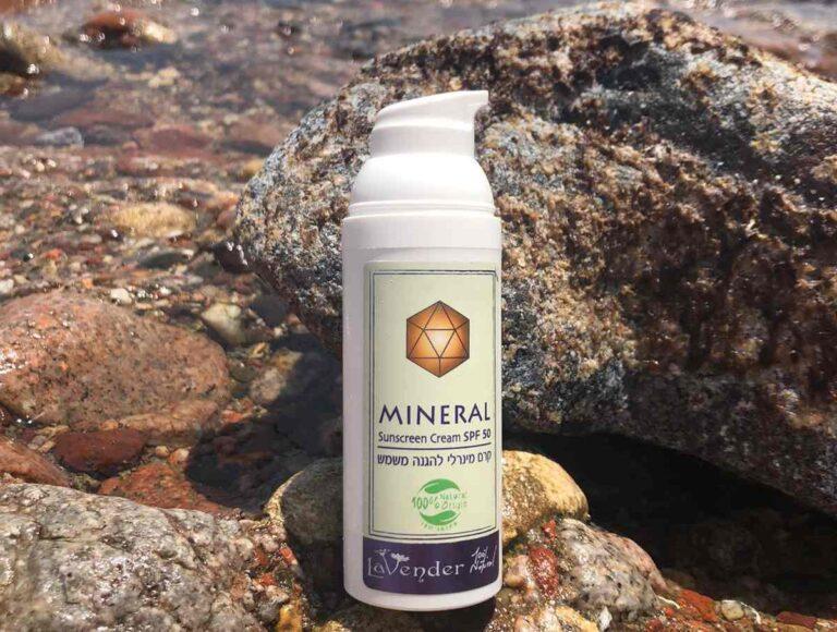 קרם הגנה טבעי ומינרלי מעולה להגנה אמיתית מהשמש מבית לבנדר קוסמטיקה טבעית