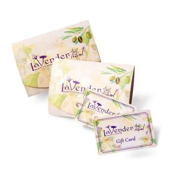 מתנות לכל אירוע, שובר מתנה - Gift Card- לבנדר קוסמטיקה טבעית ואורגנית.