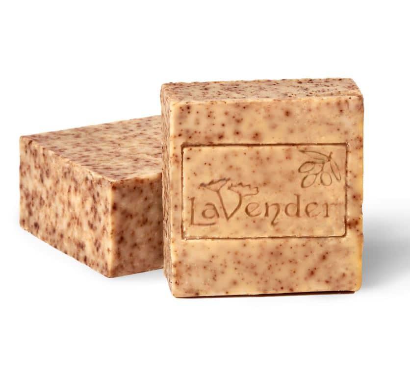 סבון מוצק טבעי פילינג חוחובה - לבנדר קוסמטיקה טבעית ורוקחות טבעית