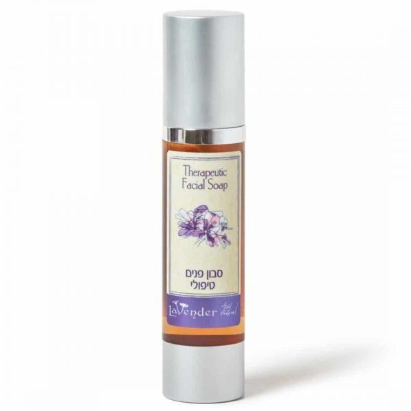 סבון פנים לעור שמן טיפולי עם עץ התה מבית לבנדר קוסמטיקה טבעית